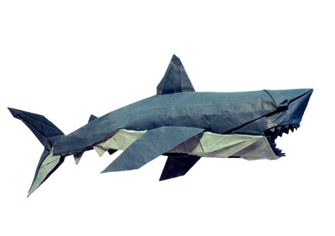 Origami Great White Shark - origami origami shark easy origami