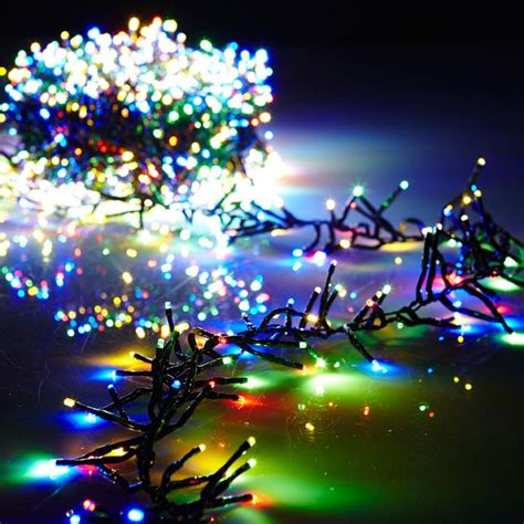 remite control multifunction christmas tree 44 foot cluster lights with 1300 multi color led garland green wire remote