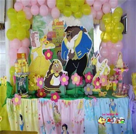 decoracion de fiesta de la princesa bella y la bestia muyameno com fiestas infantiles decoraci 243 n la bella y la
