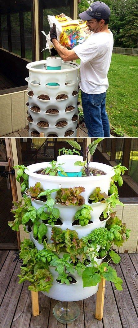 garden tower vertical container garden 25 best ideas about tower garden on grow