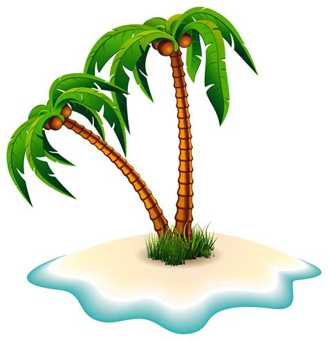 island clip palm tree clipart transparent background pencil and in