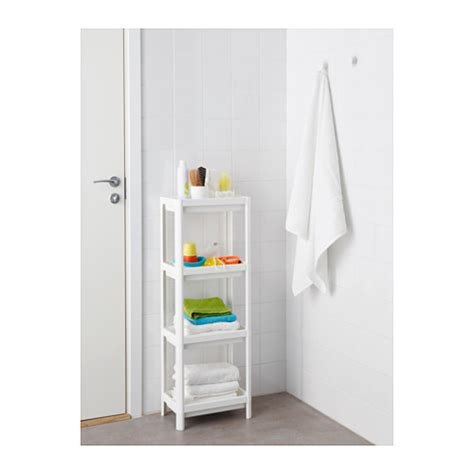 White Bathroom Shelf Unit by Vesken Shelf Unit White 23x100 Cm