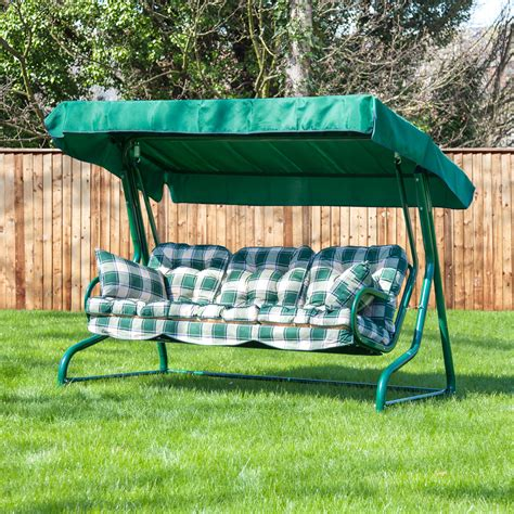 garden swing seat garden 3 seater replacement swing seat hammock cushion set