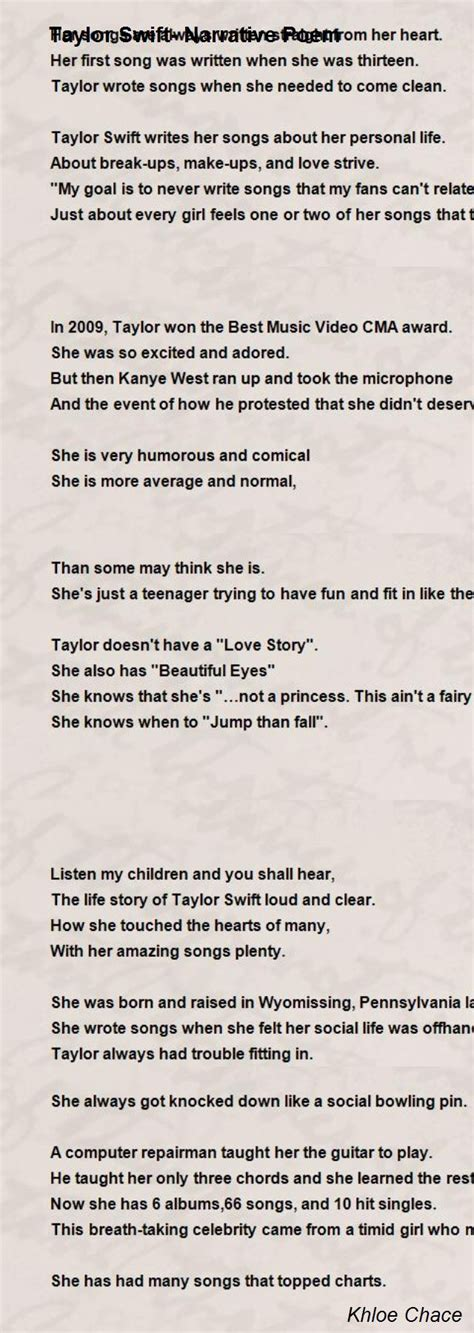 short biography about taylor swift narrative poem about life pictures to pin on pinterest