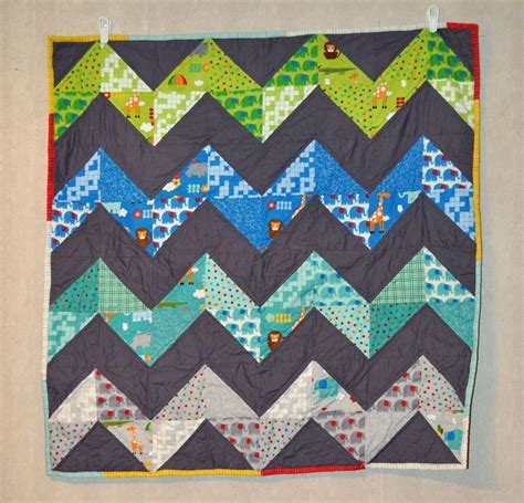 Chevron Pattern Quilts by Chevron Baby Quilt By Richard Healey Craftsy