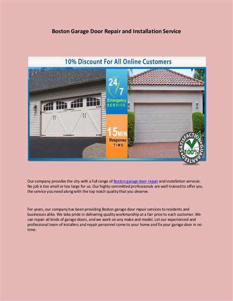 Boston Garage Door Repair And Installation Service Boston Garage Door Repair
