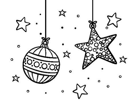 dibujos de navidad para colorear dibujosnet dibujo de adornos de navidad para colorear dibujos net