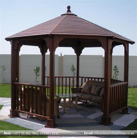 gazebo dubai wooden roof gazebos in dubai abu dhabi al ain uae