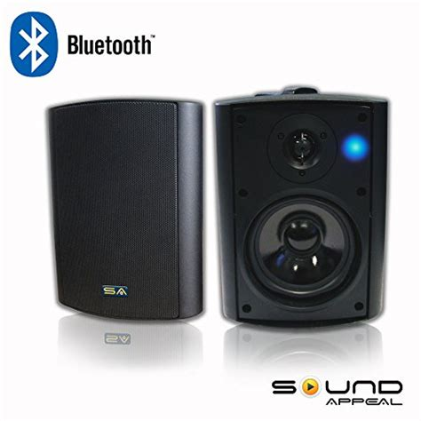 Patio Bluetooth Speakers by Bluetooth 5 25 Indoor Outdoor Weatherproof Patio Speakers