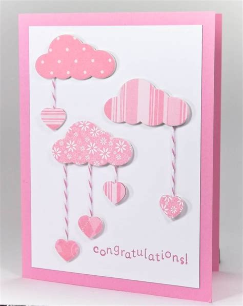 Baby Cards Handmade - 25 best ideas about handmade baby cards on