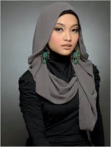 How To Drape A Scarf Around Your Neck Hijab Bridal Fashion Funawake Com