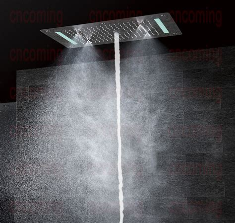 2015 new style luxury led embedded ceiling shower