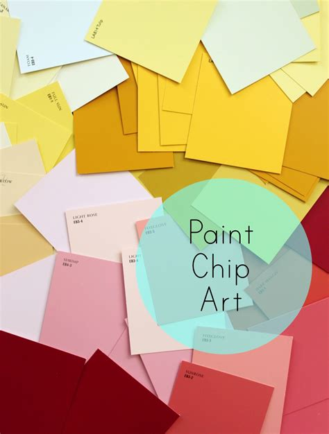 paint chips diy paint chip art dwell with dignity