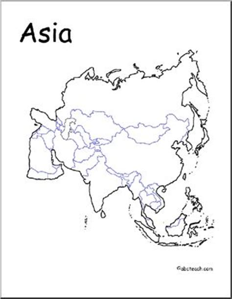 map asia unlabeled countries abcteach