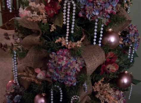 perennial passion hydrangea burlap pearls christmas tree
