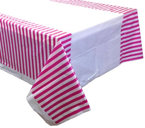 Paper Napkin Fuchsia Stripes fuchsia striped plastic tablecloth