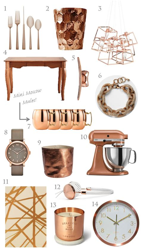 copper decorations home trending copper rose gold home decor for the home