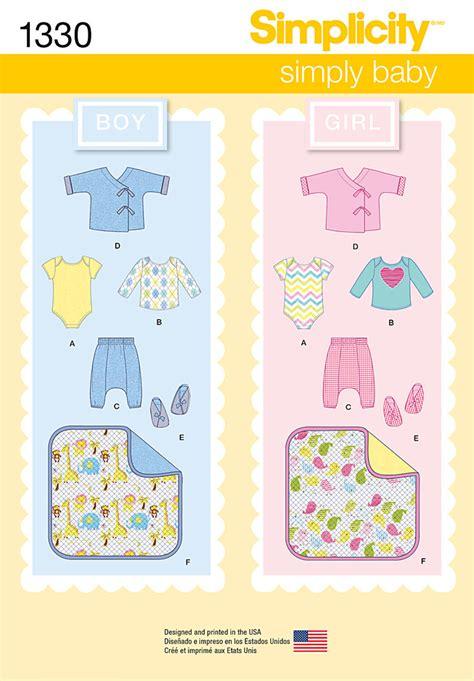 pick pattern review simplicity 1330 babies separates booties blanket