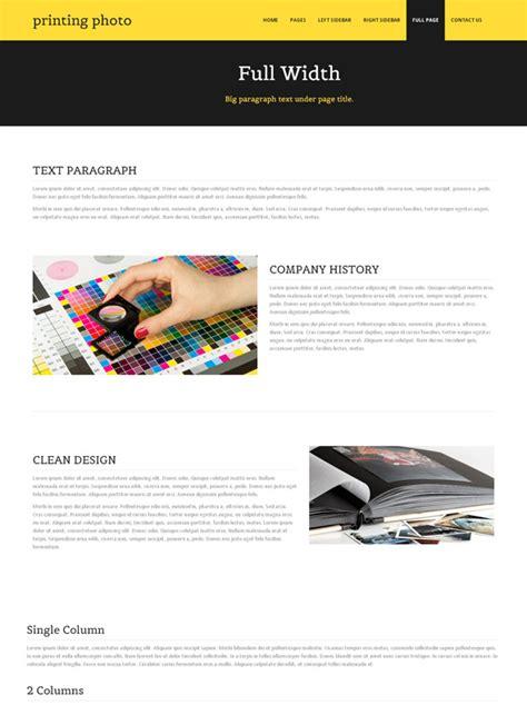 Digital Print Website Template Photo Printing Art Photography Dreamtemplate Printing Website Template