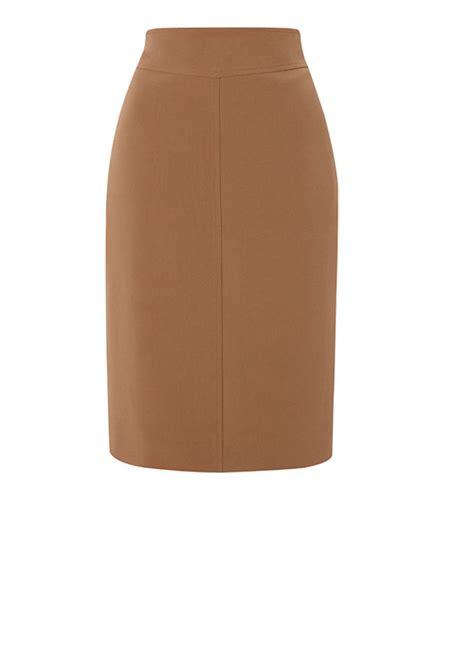 mustard pencil skirt custom handmade fully lined wool