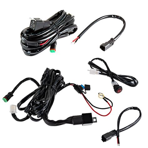 Light Wiring Harness by Led Light Wiring Harness Pair With Switch And Relay Dt