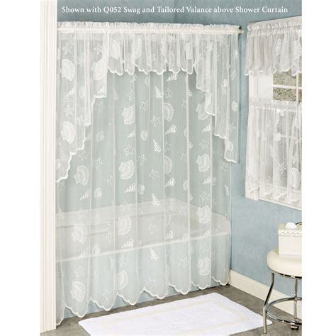 Seashell Shower Curtain by Seashells Lace Shower Curtain