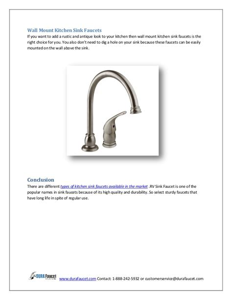 types of faucets kitchen types of kitchen sink faucets