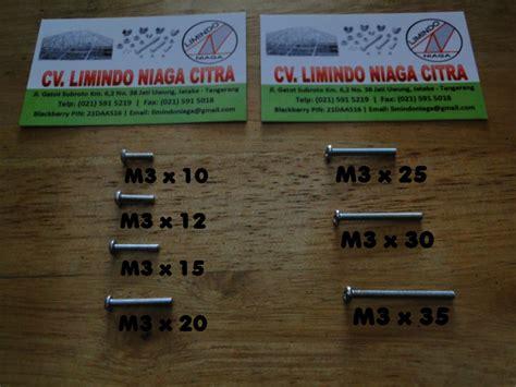Baut M3 5 jual baut obeng jp m3 x 20 limindo niaga citra