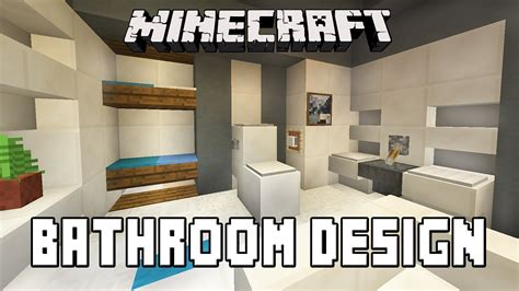 Minecraft Tutorial How To Build A Modern House Ep 7 Minecraft Modern Bathroom