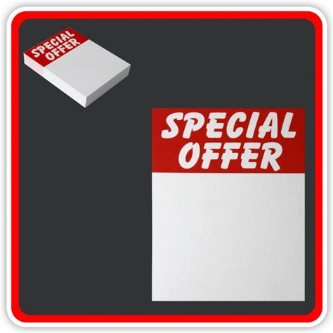 Gift Card Special Offers - sale cards special offer 100 x 75mm 4 quot x3 quot pack 48
