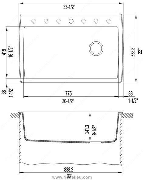 Blanco Sink Diamond 1 Super Single Richelieu Hardware Blanco Kitchen Sink Templates