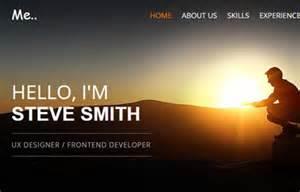 Personal Portfolio Template by Resume Personal Portfolio Responsive Template