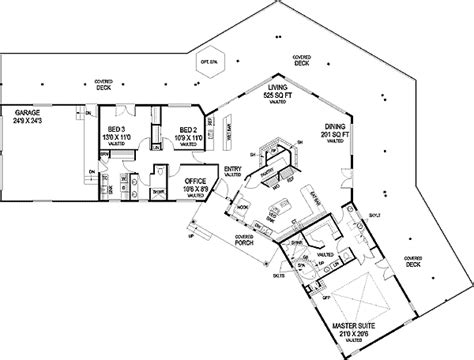 hexagon floor plans hexagonal living area 77239ld 1st floor master suite