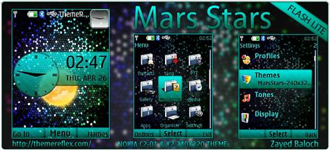 nokia c2 moving themes mars stars theme for nokia x2 00 c2 01 x3 240 215 320