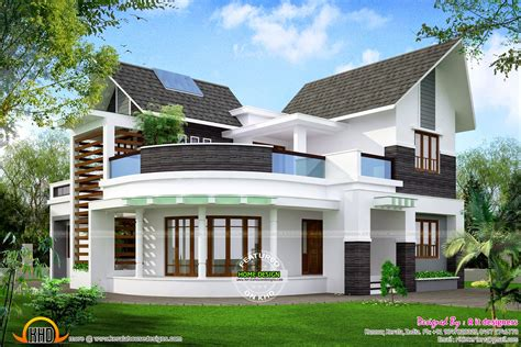 unique house beautiful unique house kerala home design and floor plans