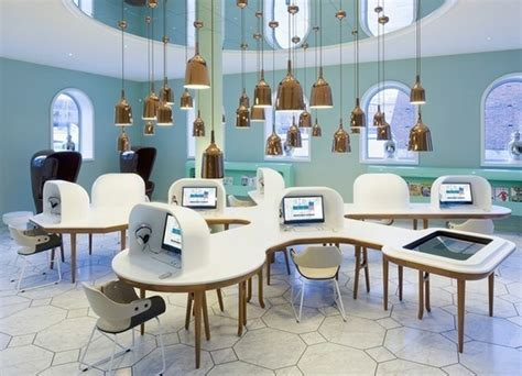 futuristic interior design cafe what a cool computer lab design library furniture ideas