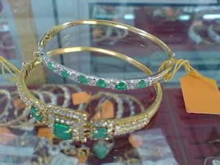 Gelang Berlian Permata Imitasi Zircon Bangle 4 zamrud gelang tangan emas wanita gz01 rm1250 rm1350