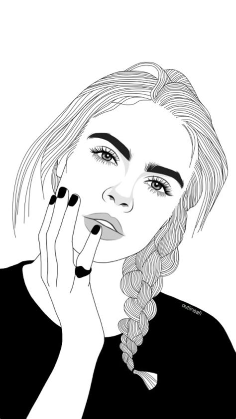 cara membuat outline tumblr cara delevingne outline tumblr