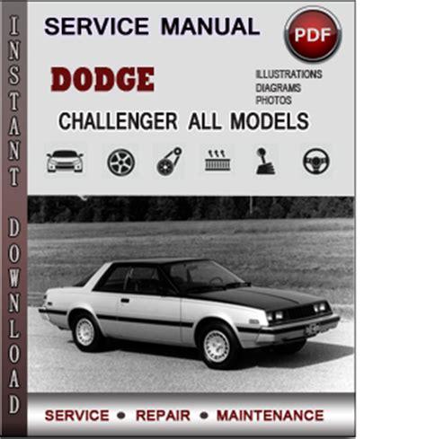 dodge challenger service repair manual download info service manuals