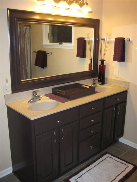 my newly remodeled master bath it was all oak i used benjamin aura paint i painted the
