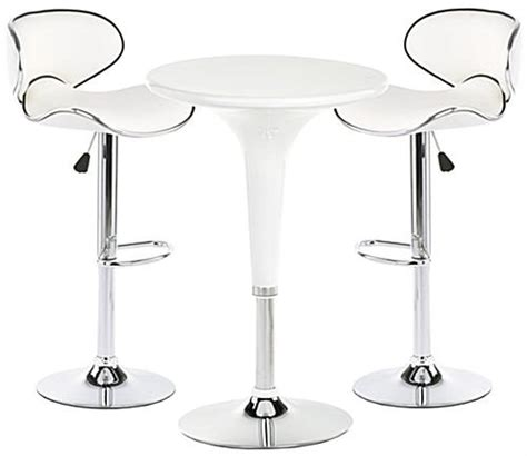 trade cocktail tables white trade table and chairs modern pub style