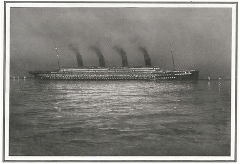 imagenes historicas del titanic fotos hist 243 ricas el titanic durante la noche titanic