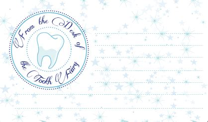 printable authentic tooth fairy letterhead