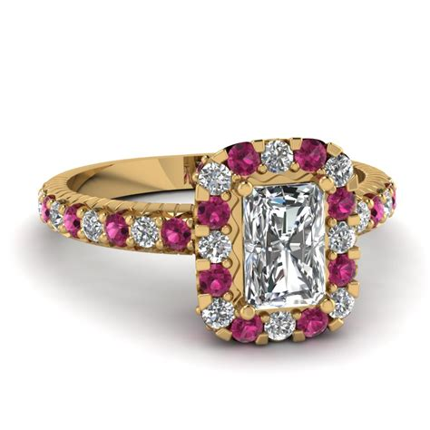 shop for customized pink sapphire vintage engagement rings
