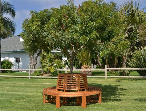 Tree Bench Outdoor Wood Tree Bench Forever Redwood