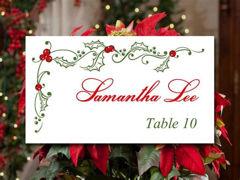 printable christmas place card holders 30 best holiday weddings images on pinterest wedding