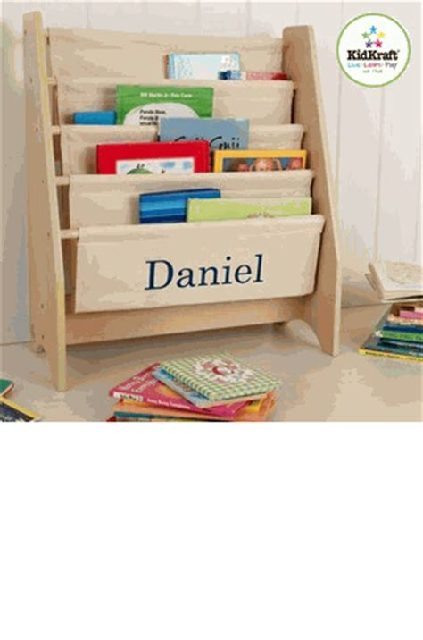 kidkraft personalized sling bookshelf