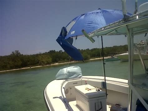 anchor shade boat umbrella sun solutions on a small boat the hull truth boating