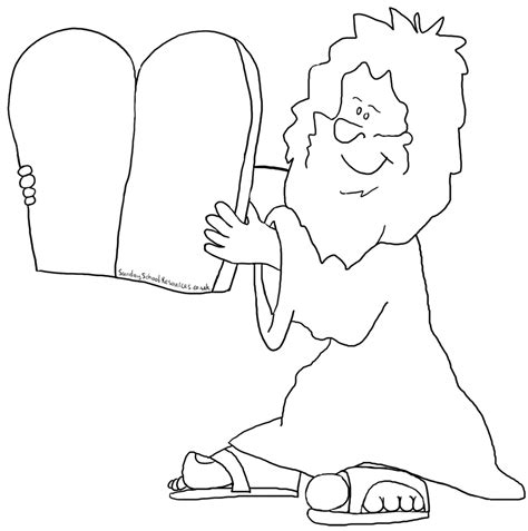 Sunday School Moses Bible Coloring Pages Coloring Pages 10 Commandments
