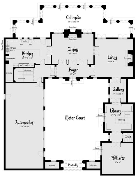 house design layout darien castle plan tyree house plans